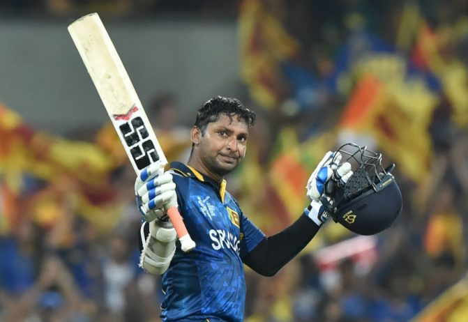 Kumar Sangakkara became the first player to score three consecutive World Cup tons, Australia v Sri Lanka, World Cup 2015, Group A, Sydney, March 8, 2015