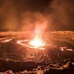 """""""Gateway to Hell"""" A Luminous Lava Lake spitting Molten Lava and Searing Heat"""