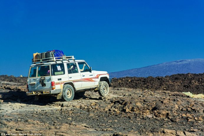 Poor road access means the only way to efficiently get to the crater is via four-wheel-drive over rugged terrain