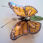 Striking Winged Insects Made of Discarded Circuit Boards