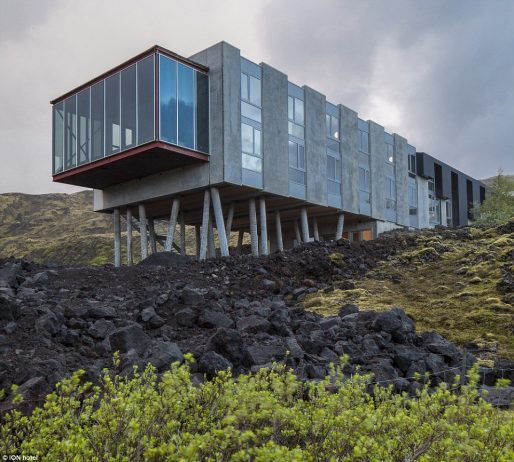 Among the moss and lava The ION hotel is designed to make use of and complement its rugged and beautiful surroundings