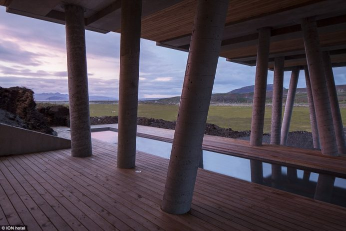 ION is surrounded by natural hot springs, which provide geothermal hot water and energy to the hotel's own natural outdoor pool