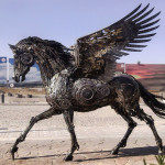 Magnificent Steampunk Animal Sculptures Made Of Scrap Metal