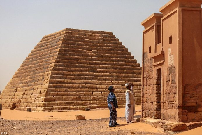 The pyramids bear decorative elements inspired by Pharaonic Egypt, Greece and Rome, according to UNESCO,