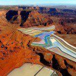 The Largest Potash Evaporation Ponds in Utah