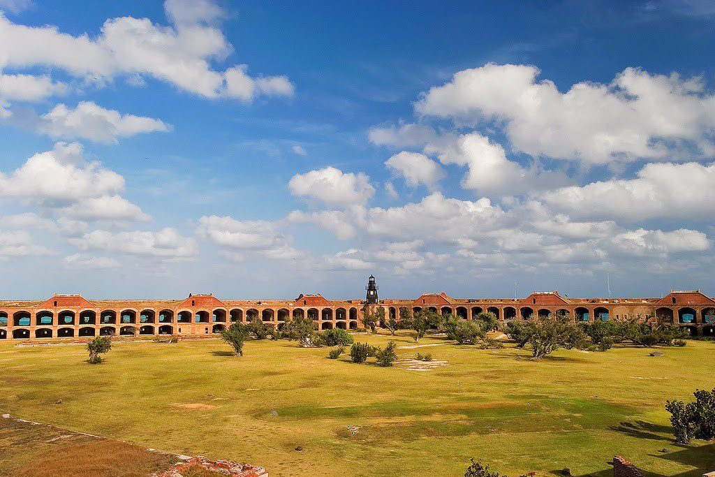 Fort Jefferson was built to protect one of the most strategic deep-water anchorages by fortifying this spacious harbor.