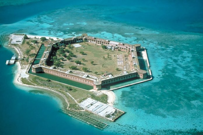 Fort Jefferson is no longer in use and is currently part of the Dry Tortugas National Park.