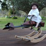 Loving Dad build Stars Wars Rocking Horse for his daughter Ist Birthday.