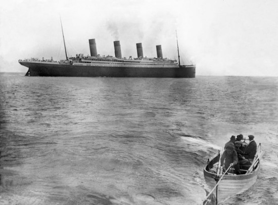 The last image taken of The Titanic, 1912