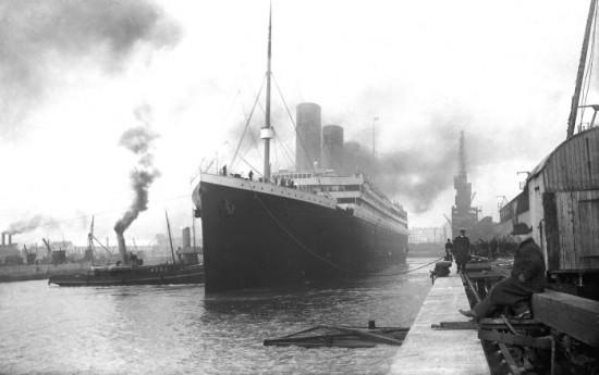 Titanic Prepares to Leave Port. 1912