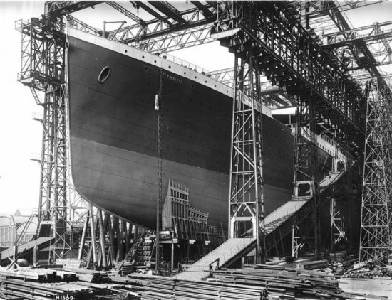 Titanic ready for launch, 1911