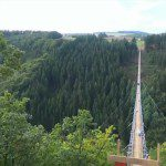 Germany's Longest Rope Suspension Bridge 300 Feet Above a Canyon Floor