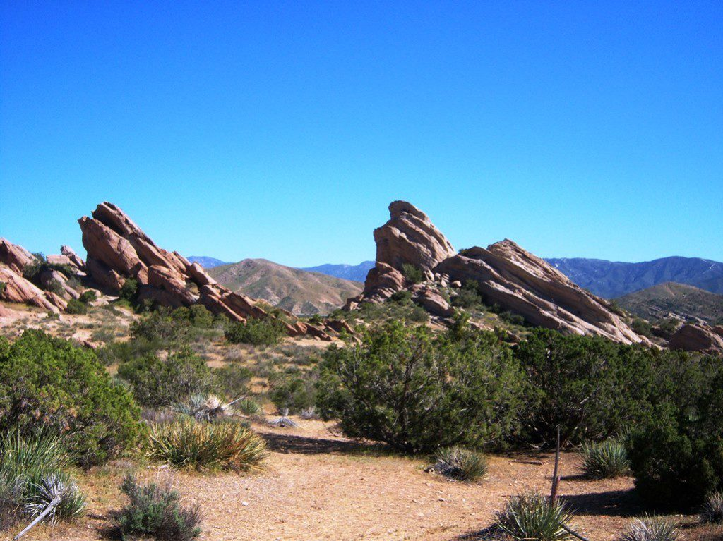 Vasquez Rocks Natural Area Park is a 932-acre park located in the Sierra Pelona Mountains, in northern Los Angeles County, California.