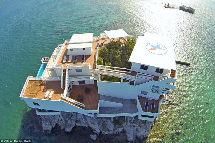The resort is spread over four floor and boasts 15,000 square feet of bedroom and living space, including plenty of sunbathing areas