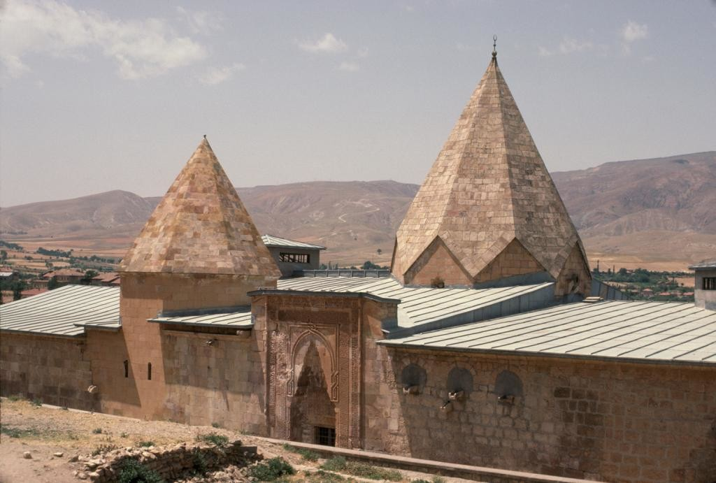 The Great Mosque and Hospital of Divriği is a remarkable building combining a monumental hypostyle mosque with a two storey hospital