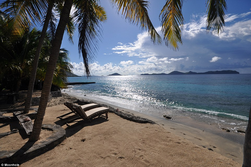Guests can unwind on the resort's beach enjoying their very own slice of paradise