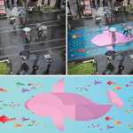 Rain Water Gives a New Life to Street Murals