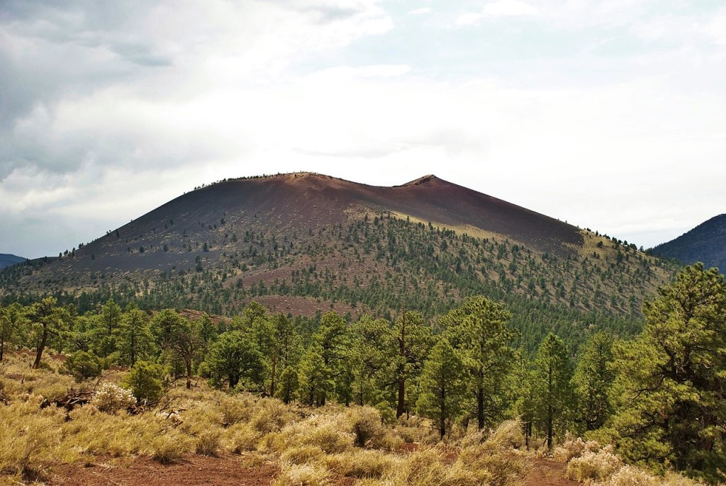 Sunset Crater Volcano from the cinder hills