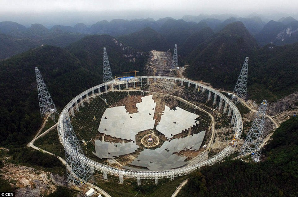 The world's largest radio telescope is in the final stages of completion, and is being put through its paces with a dry run in China