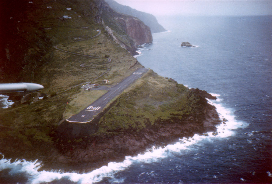 The airport (also known as Saba airport) named after the Aruban Minister Juancho Irausquin, although is closed to jet traffic