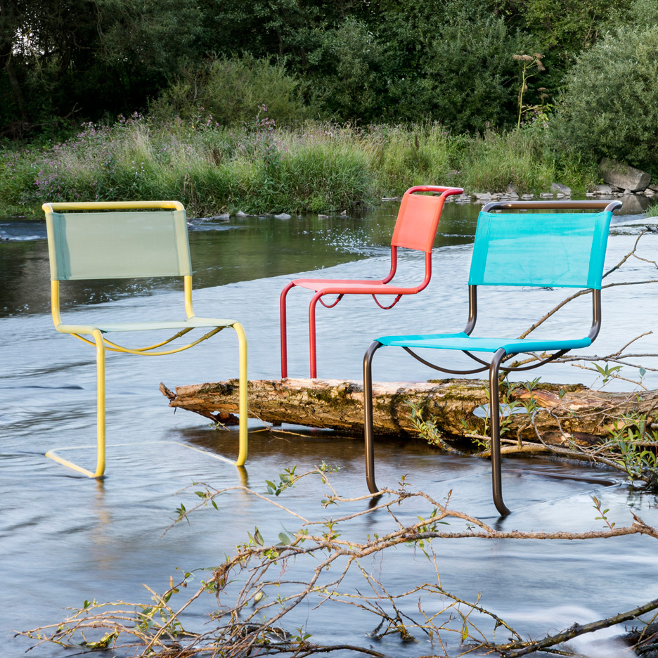 These chairs are made in a special way with a surface which is resistant against harmful outdoor environments.