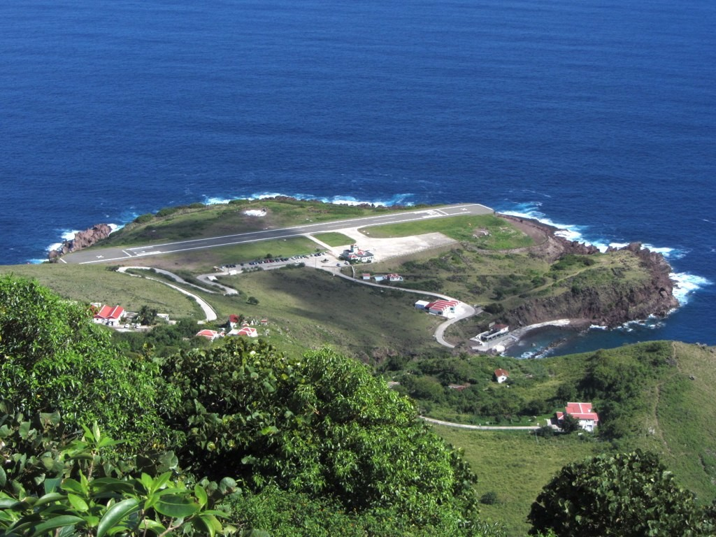 There's possibility that an airplane might overshoot the runway during landing or takeoff and end up in the sea or on the cliffs.