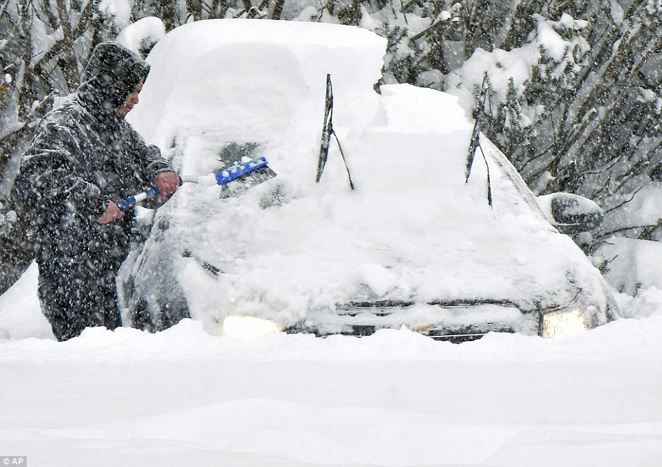 Millions of Americans are battling with the elements on Saturday as Jonas brought hurricane-force winds and feet of snow to ten states