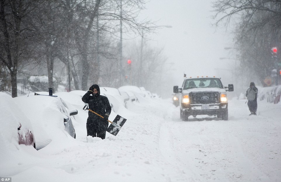 More than 85million Americans affected by the storm have been advised to keep their homes accessible during the storm in case emergency crews need to enter