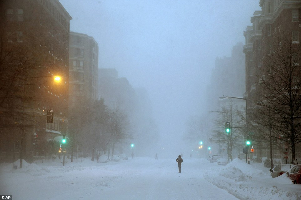 The streets in Washington, DC, seemed just as desolate on Saturday, as pedestrians walked car-free streets