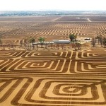 Australian Farmer Battles Soil Erosion by Plowing Land into Massive Geometric Artwork
