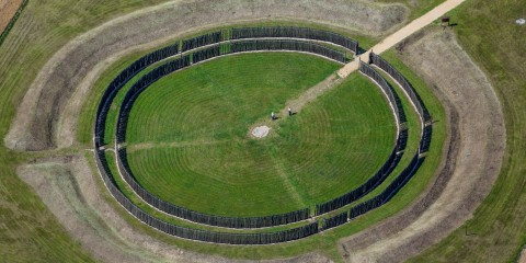 The strange Goseck Circle is also known as the Goseck Henge, a Neolithic Circle Structure, perhaps one of the oldest solar observatories in the world.
