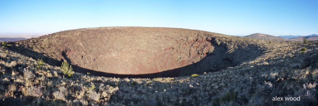 . SP Crater is about 800 feet from its base, being a cinder cone;