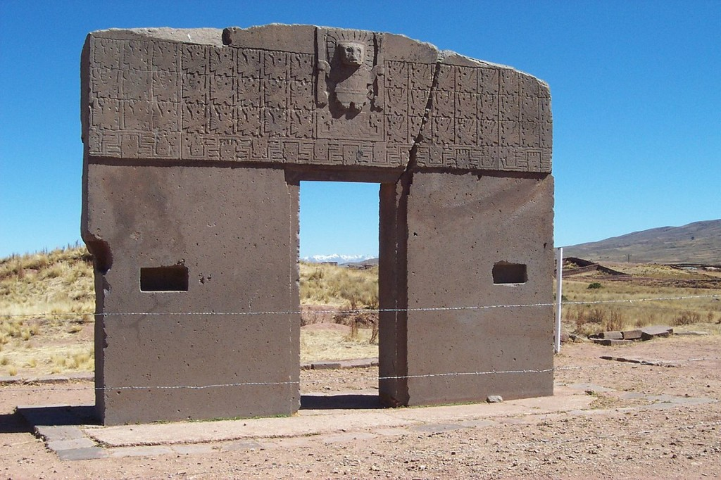 The Gateway of the Sun from the Tiwanku civilization in Bolivia