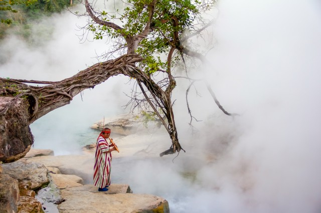 """The river flowing deep in the Amazon rainforest, in Mayantuyacu, Peru call it """"Shanay-timpishka"""" translates to """"boiled with the heat of the sun."""""""