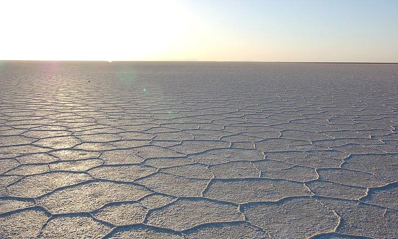The Namak Lake has a dry surface only water covers out of about 1800 km² area.