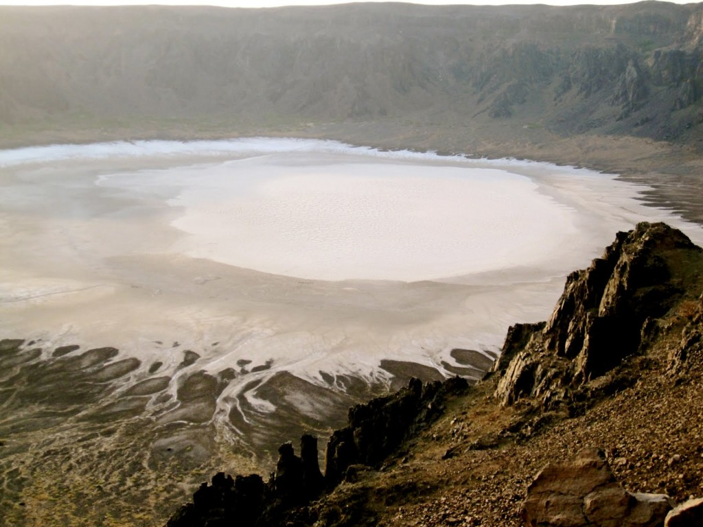 The crater is natural anomaly that would have been a wondrous enough on its own and hides its own salt field in its giant bowl.