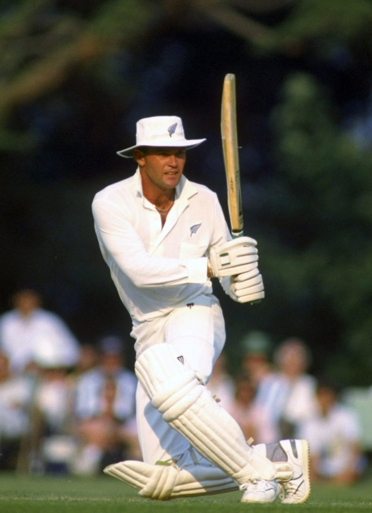 Martin Crowe bats in a Texaco Trophy match, 1990