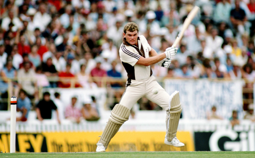 Martin Crowe made an unbeaten run-a-ball 105, New Zealand v England, 3rd ODI, Auckland, February 25, 1984