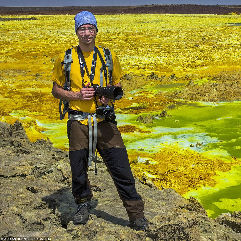 Self-proclaimed 'Lava Hunter' Adrian Rohnfelder took the stunning set of photos during a recent trip to Ethiopia