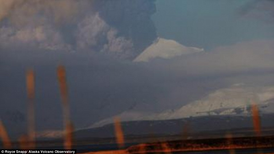The U.S. Geological Survey confirmed the eruption of Pavlof Volcano on the Aluetian Islands yesterday afternoon