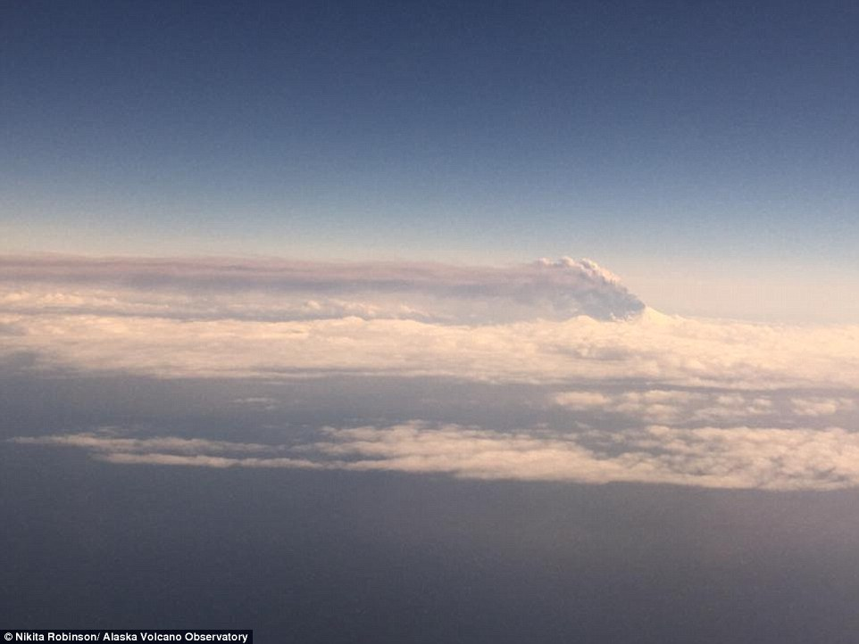 The plumes of smoke that were sent into the air when the Pavlof volcano erupted in Alaska on Sunday