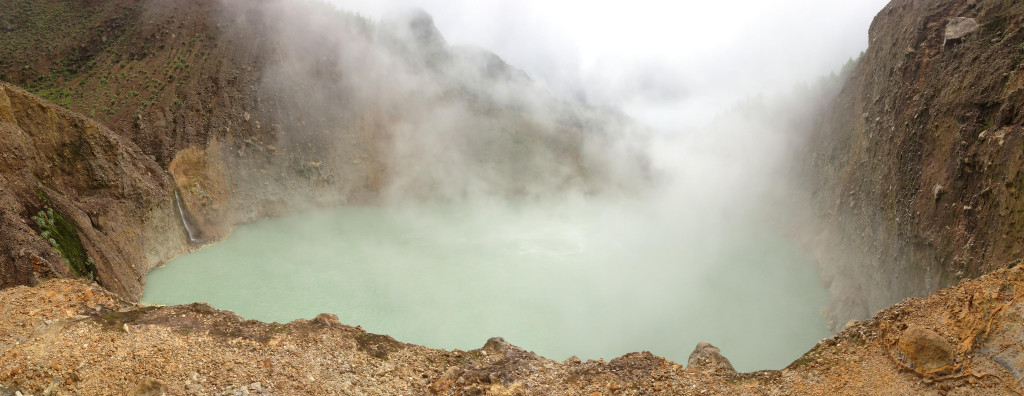 """Dominica's """"Boiling Lake"""" is one of them, a world Heritage site, situated in the Morne Trois Pitons National park."""