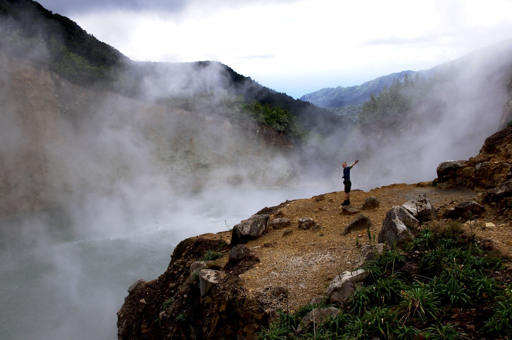 The boiling lake was first shoot in a movie in 2007.