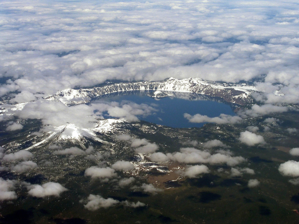 Mount Mazama collapsed into a caldera, which was filled with water to form Crater Lake.