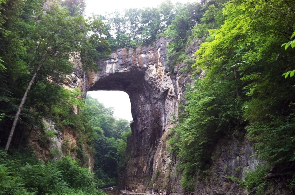Natural Bridge was one of the major tourist attractions of the new world that Europeans visited during the 18th and 19th centuries.