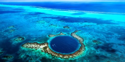 The Great Blue Hole formation took place more than 150,000 years ago, when it was formed during several episodes of quaternary glaciation when sea levels were much lower.
