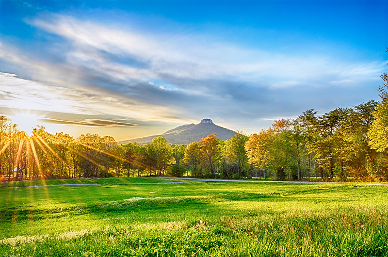The exclusive features of Pilot Mountain is Big and Little Pinnacle, have high and colorful bare rock walls, with a lovely rounded top well covered by vegetation.