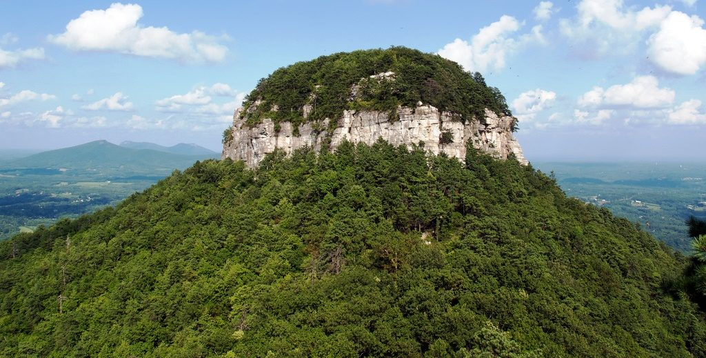 Pilot Mountain was mapped in 1751 by Joshua Fry and Peter Jefferson, father of President Thomas Jefferson.