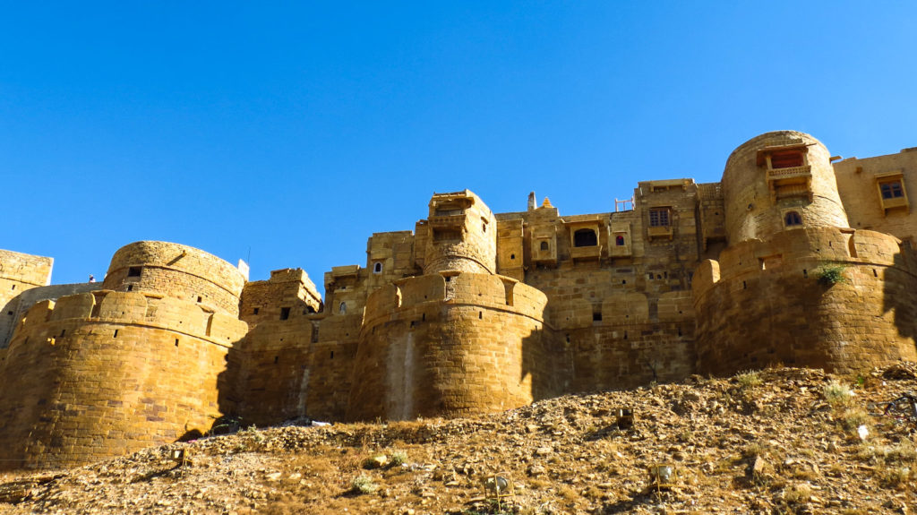 The Jaisalmer Fort is built in 1156AD by the Ruler Rawal Jaisal.