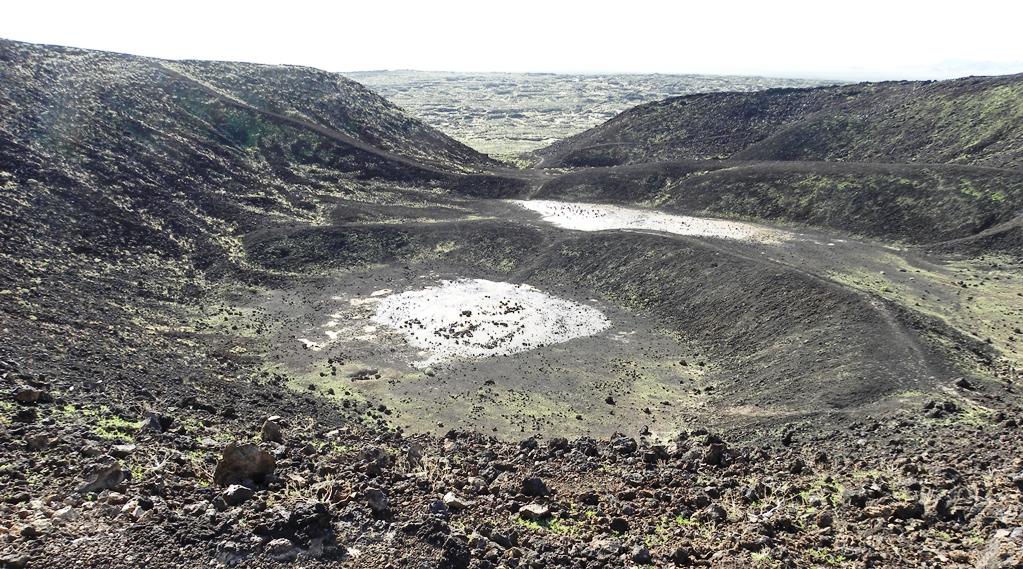 Amboy Crater was recognized for its visual and geological significance, and an excellent example of a very symmetrical volcanic cinder cone.